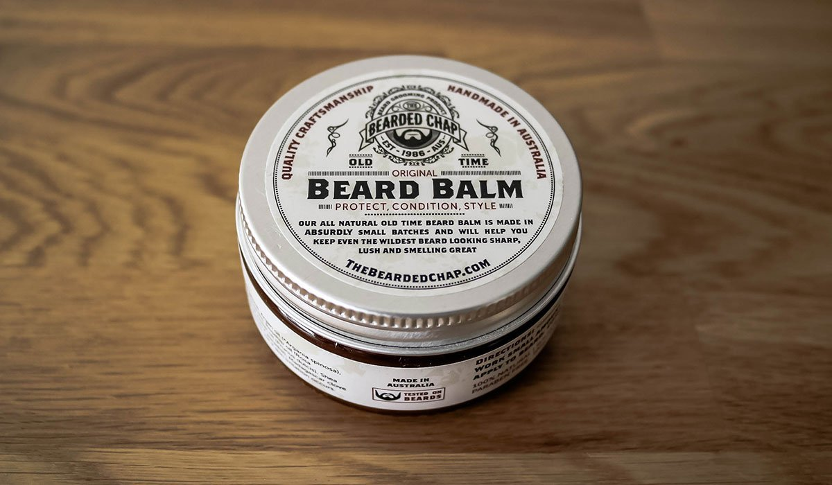 baume à barbe bearded chap packaging