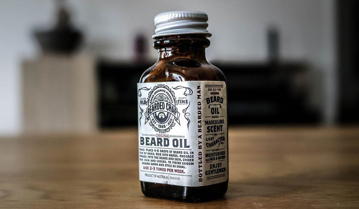 bearded chap huile de barbe flacon