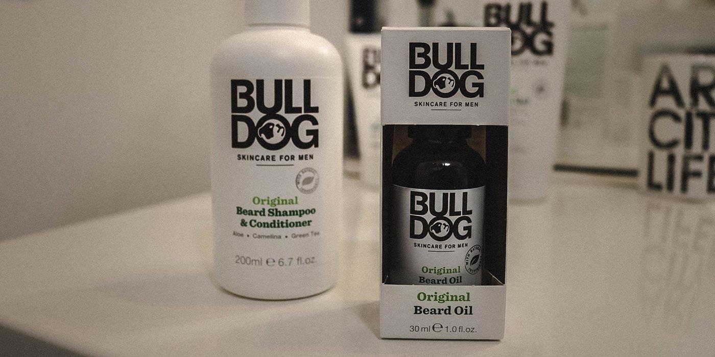 shampoing et huile de barbe bulldog
