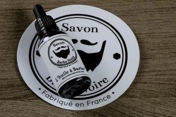 huile de barbe savon barbe noire