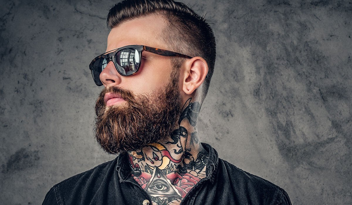 une barbe de hipster