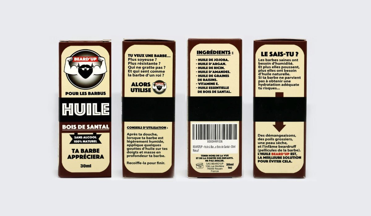 huile de barbe beard'up packaging